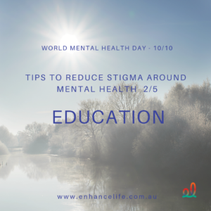 Education can reduce stigma around mental health