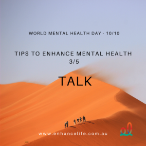 Talk to enhance your mental health