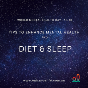 Healthy eating and sleep can enhance your mental health