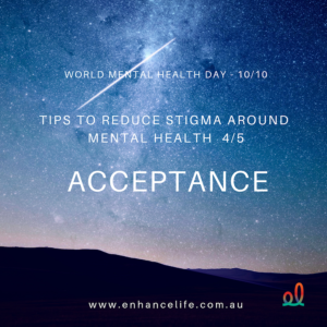 Acceptance can reduce stigma around mental health