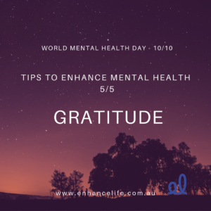 Gratitude to enhance your mental health