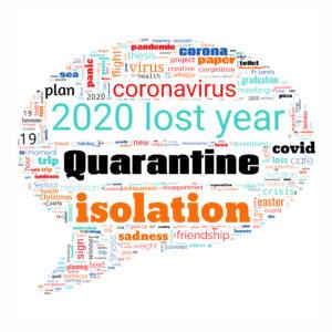Lost year 2020 word cloud